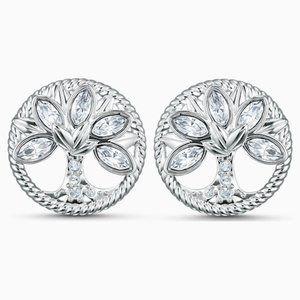 Swarovski Tree-Shaped Life Stud Pierced Earrings